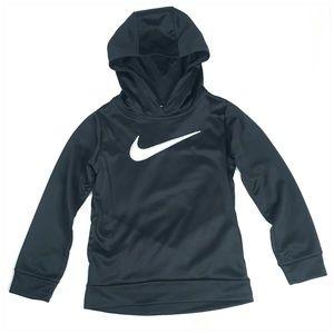Nike Girls Therma Hoodie in Black Silver Glitter